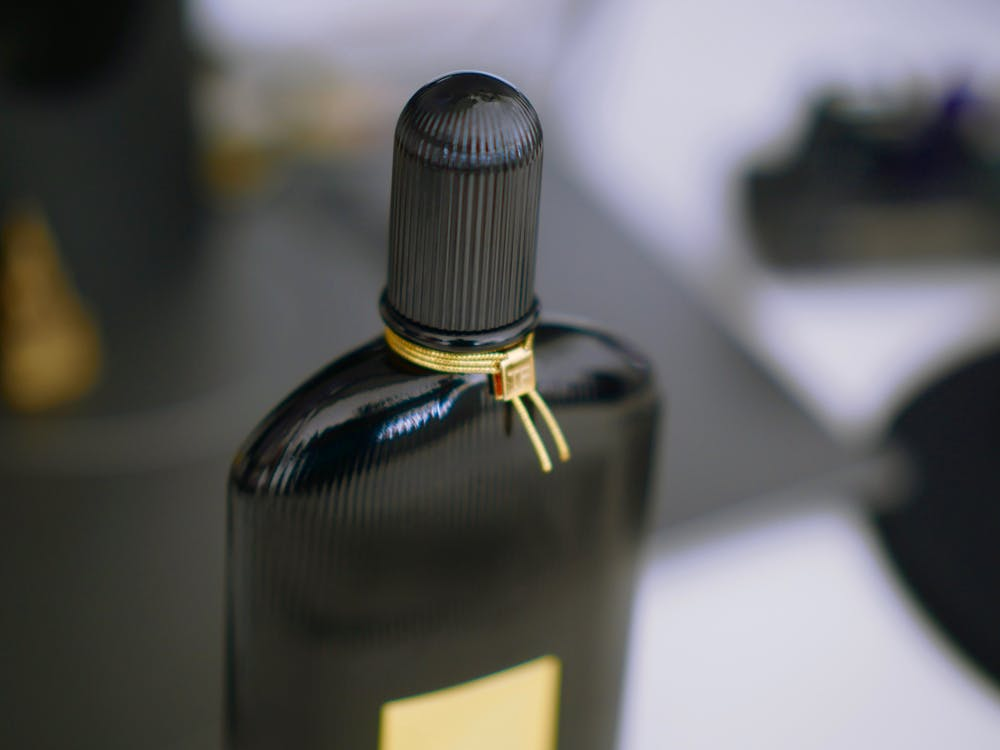 Free stock photo of black, gold, perfume