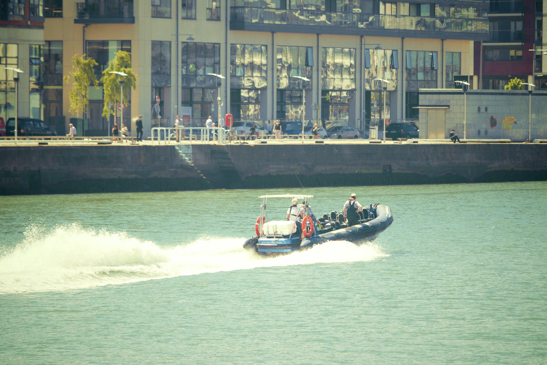 boat, city, river