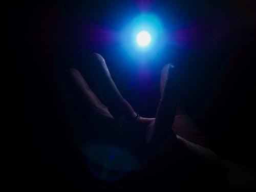 Free stock photo of blue lights
