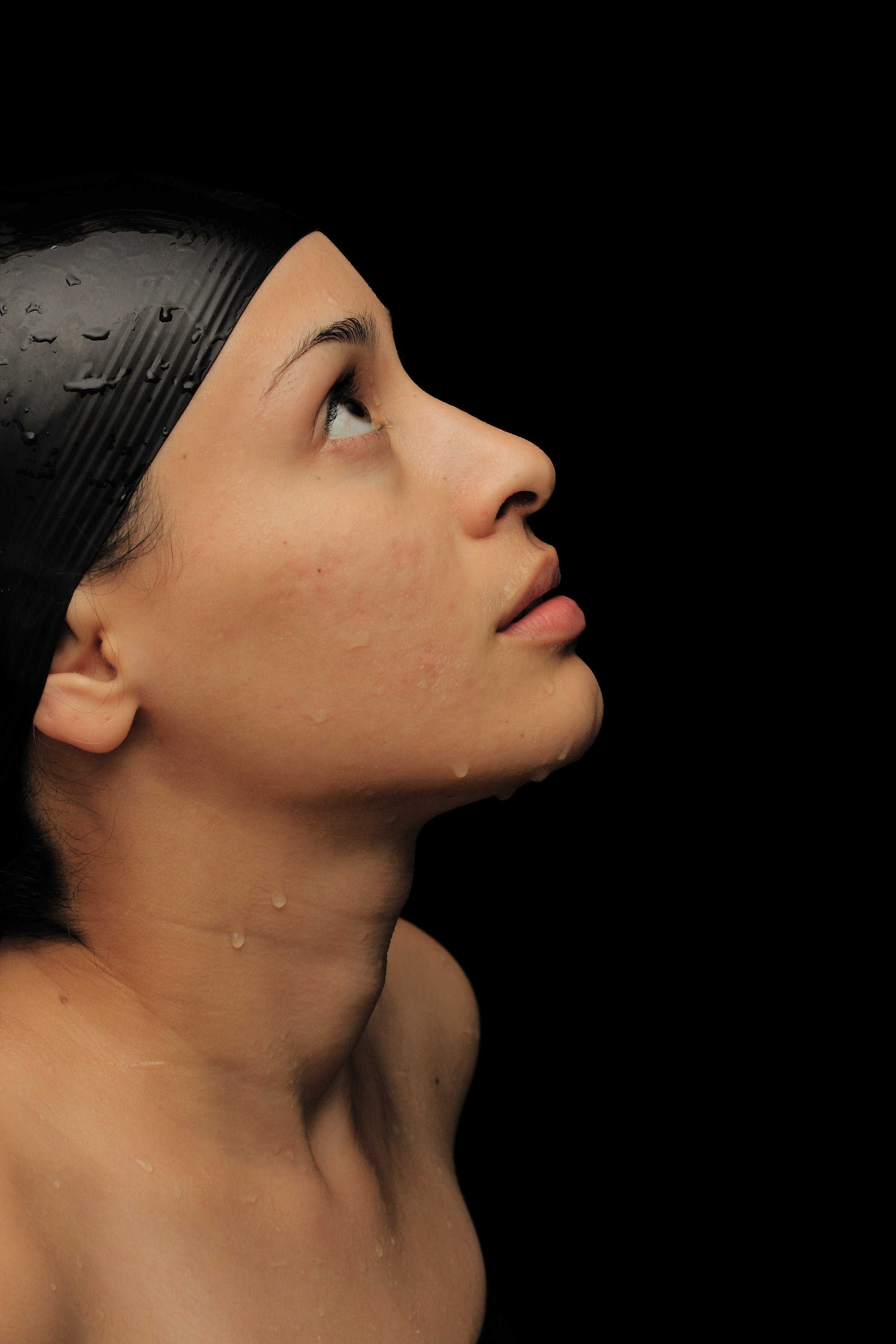 Woman With Swimming Cap
