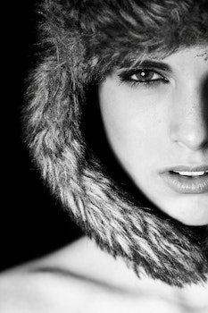 Free stock photo of cold, black-and-white, fashion, person