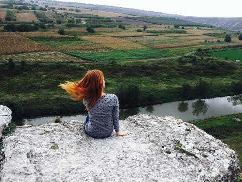 Free stock photo of landscape, redhair
