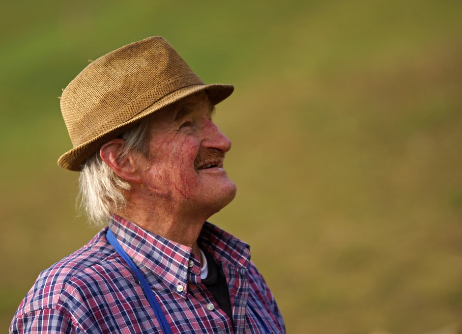 farmer, fun, grey hair