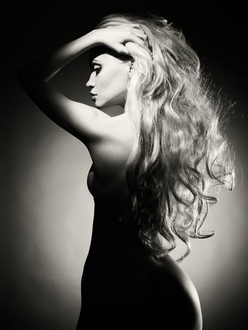 Female Body Grayscale Photography