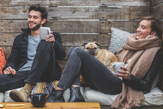 Free stock photo of man, couple, woman, coffee