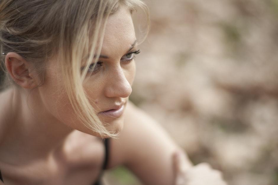 blonde, blur, close-up