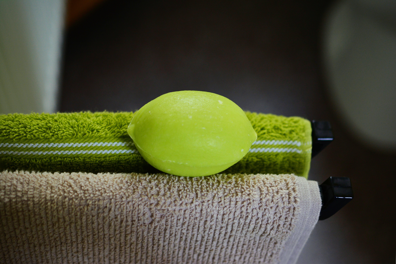 Orange Make-up Sponge on Towel