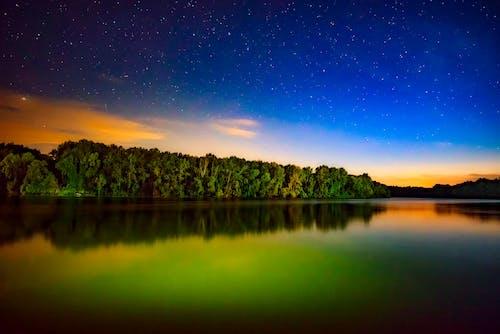 açık, ağaçlar, akşam, arazi içeren Ücretsiz stok fotoğraf