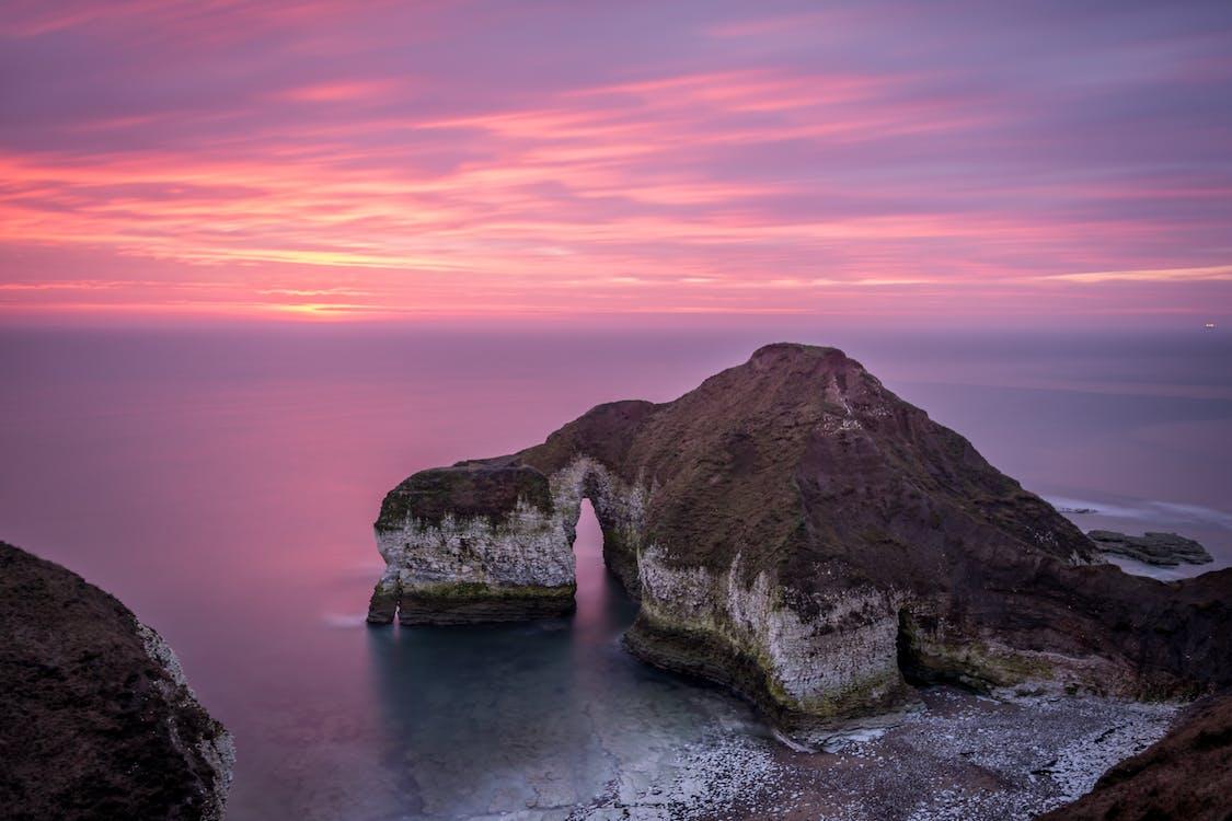 Δωρεάν στοκ φωτογραφιών με rock, skyscape, ακτή