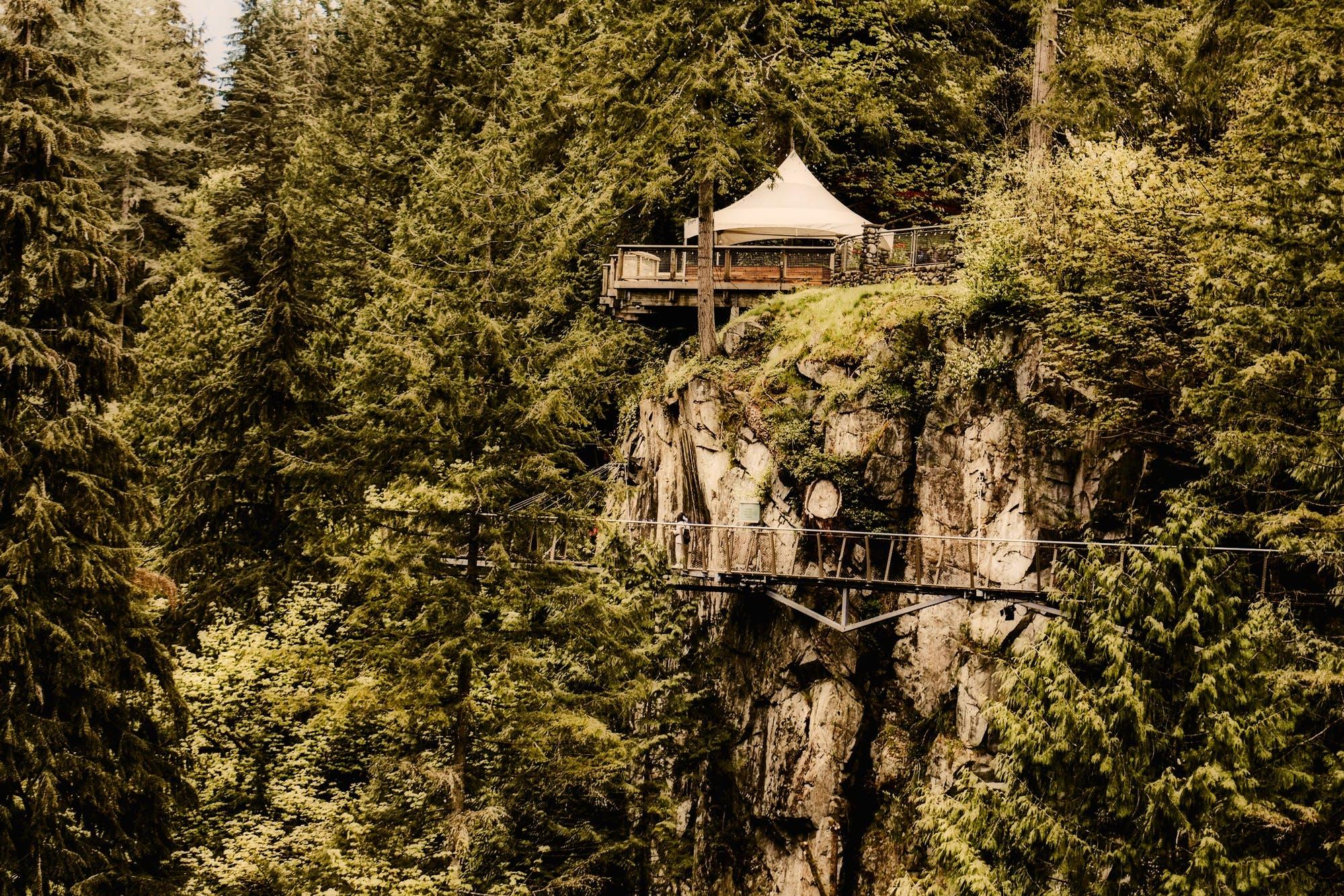 architecture, bridge, cliff