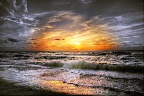 Kostenloses Stock Foto zu abend, himmel, küste, landschaft
