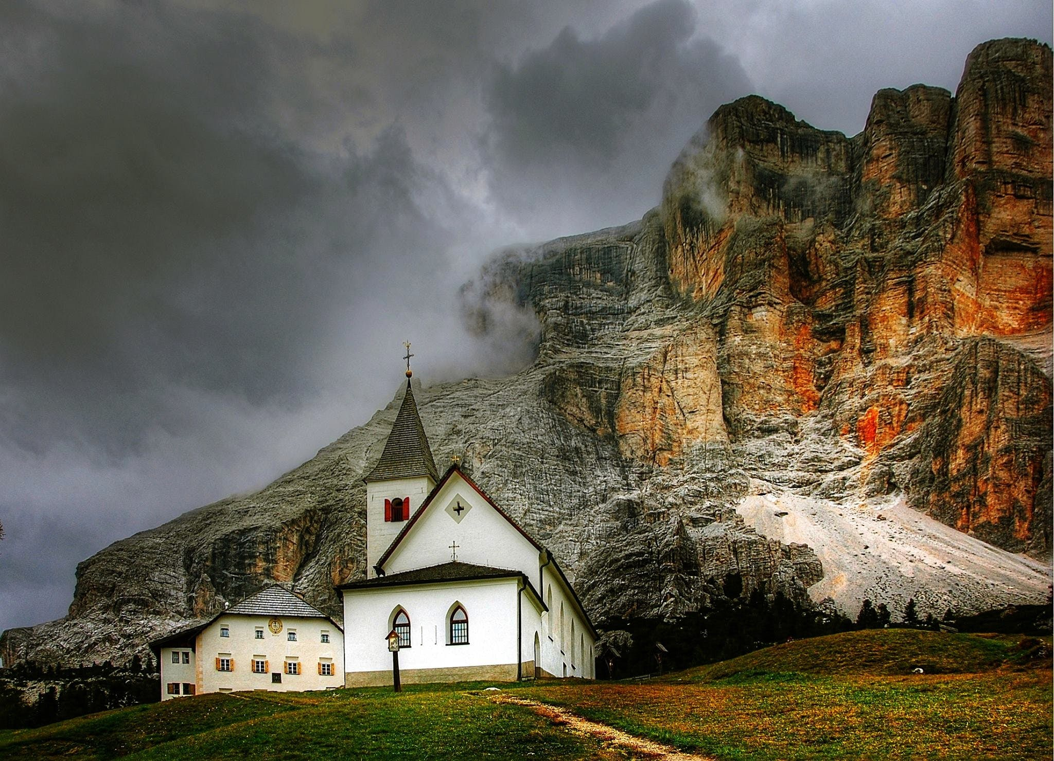 Cathedral Beside Cliff