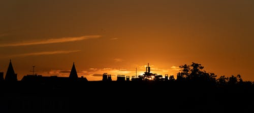 Free stock photo of silhouette, sundown