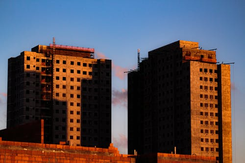 High multi storey residential buildings under construction