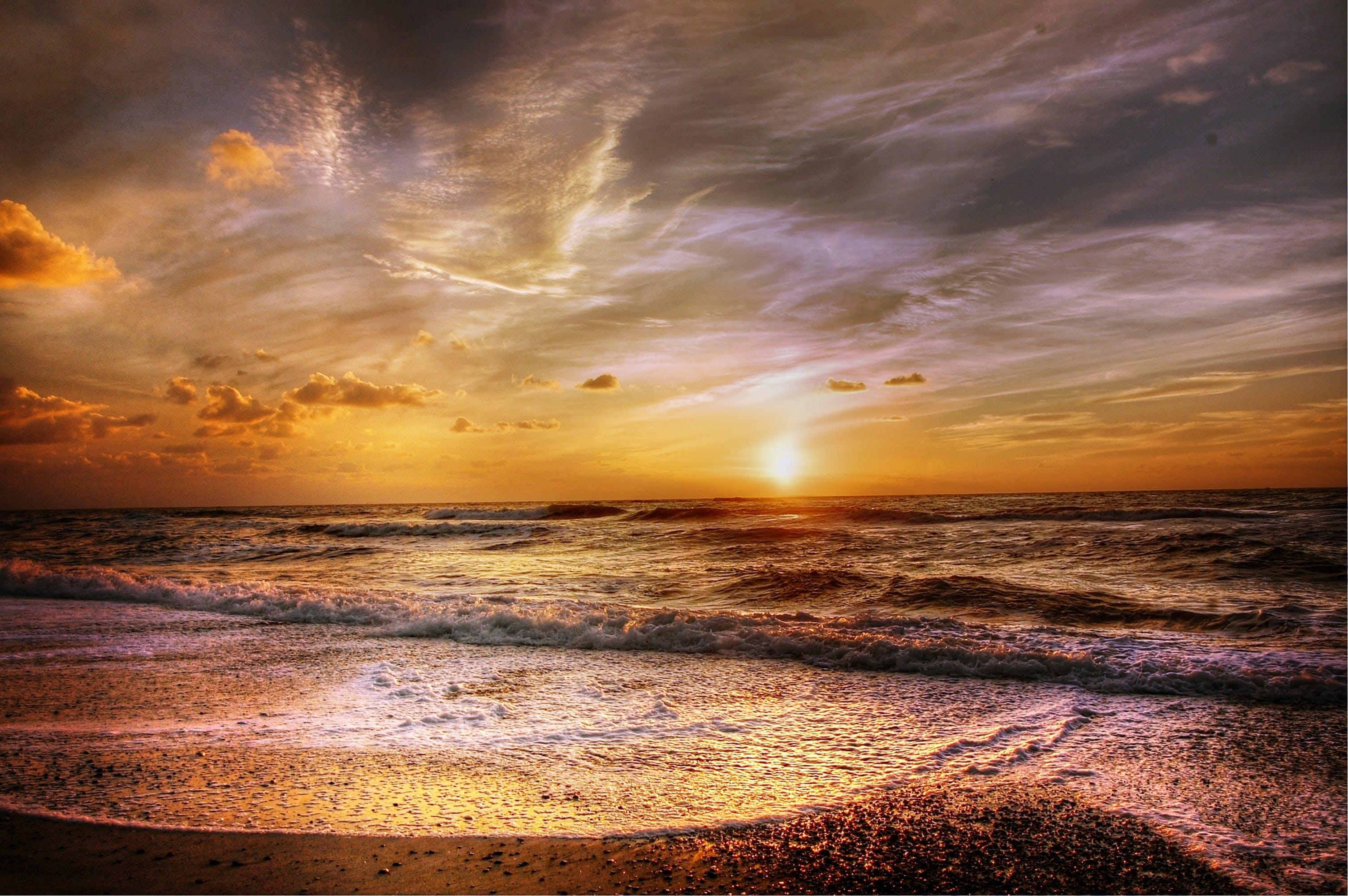 Kostenloses Stock Foto zu dämmerung, friedvoll, himmel, horizont