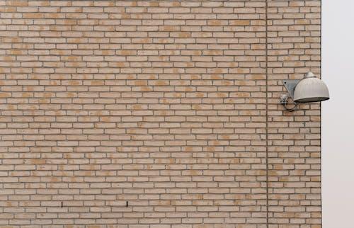 Free stock photo of brick wall, street lamp