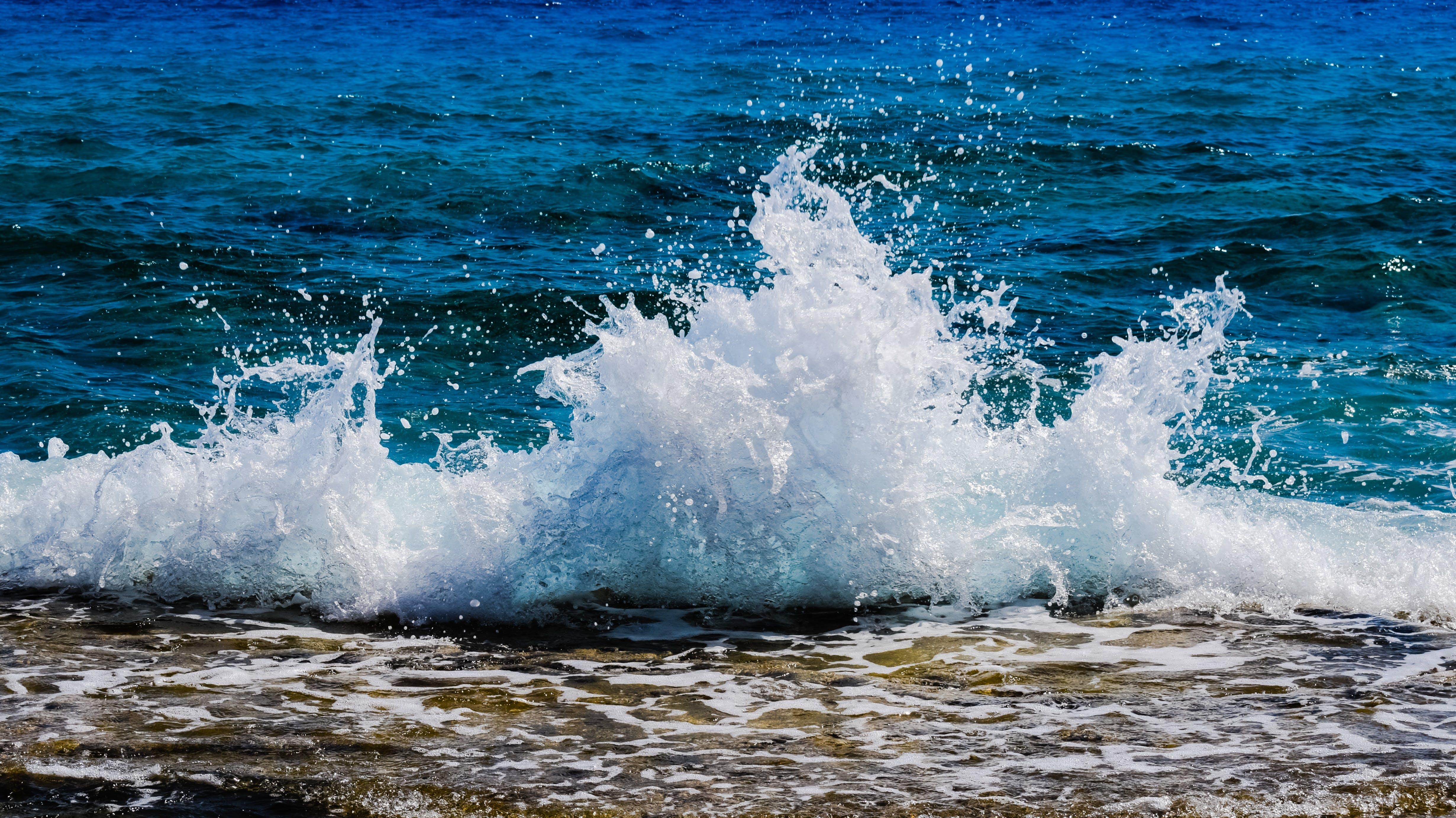 Seashore Splashing on Shoreline