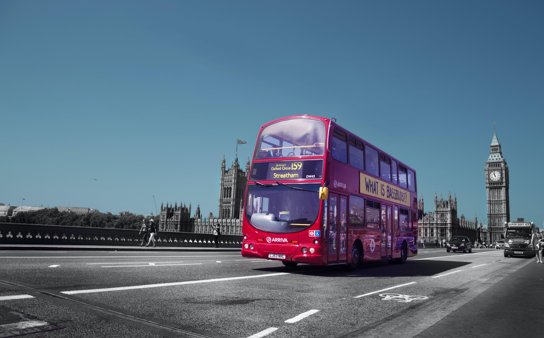 big ben, bus, england