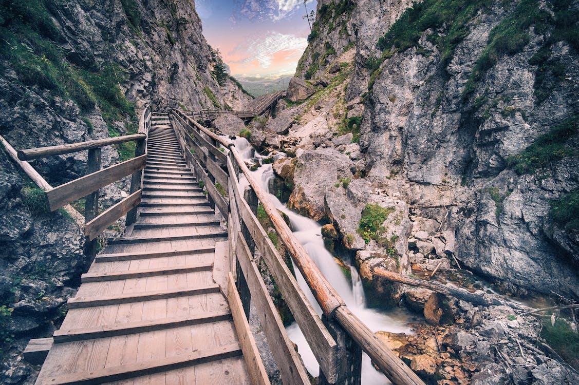 askel, joki, jyrkänne