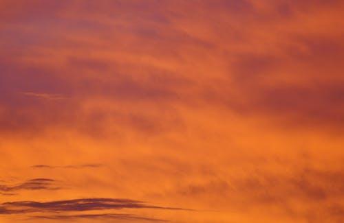 オレンジ, オレンジ色の空, テクスチャ, ドラマチックの無料の写真素材