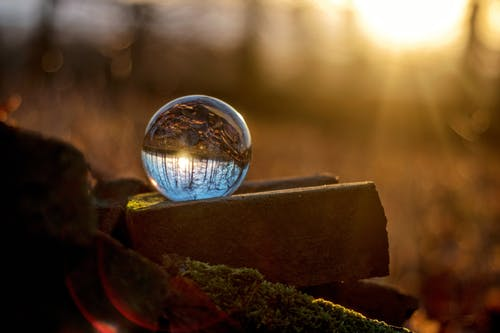 ぼかし, ガラス玉, ゴールデンアワー, シャボン玉の無料の写真素材