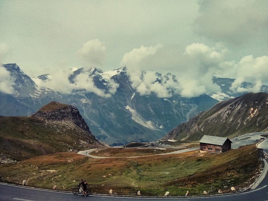 alps, austria, bend