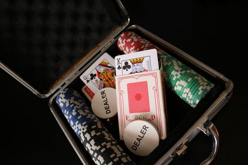 Free stock photo of game, poker cards, poker chips