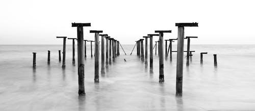 さびた, シースケープ, ドック, ビーチの無料の写真素材
