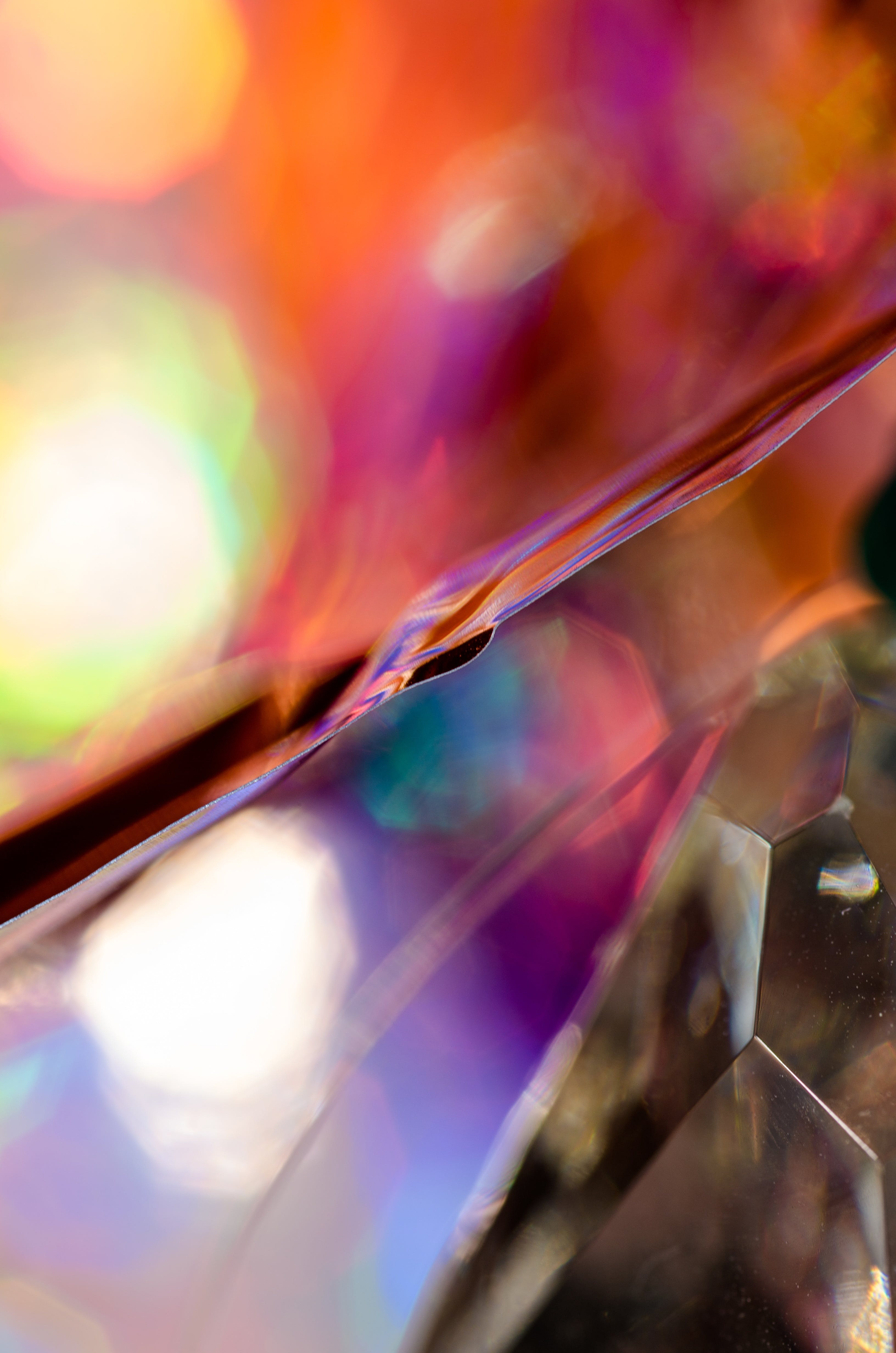 Closeup of Refracted Light