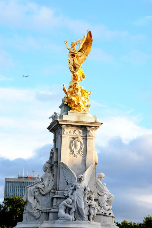 Free stock photo of england, gold, statue