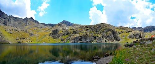 ハイランド, 反射, 山岳, 岩の無料の写真素材