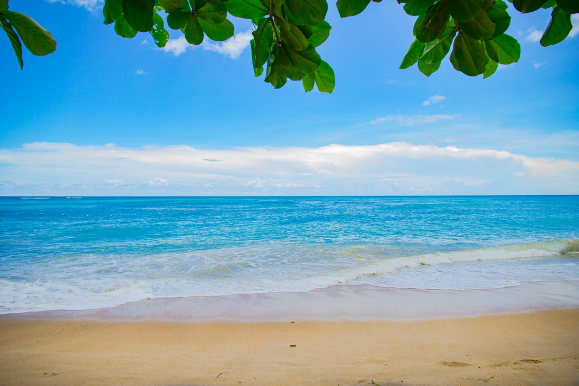 agua, arena, calma