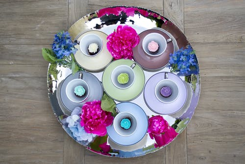 Fotobanka sbezplatnými fotkami na tému cukrársky výrobok, cupcake, krásny, kvety