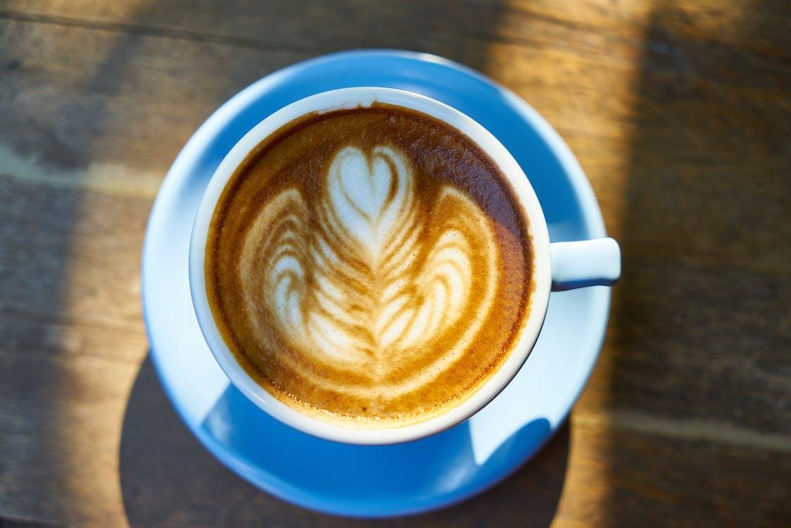 becher, braun, cappuccino