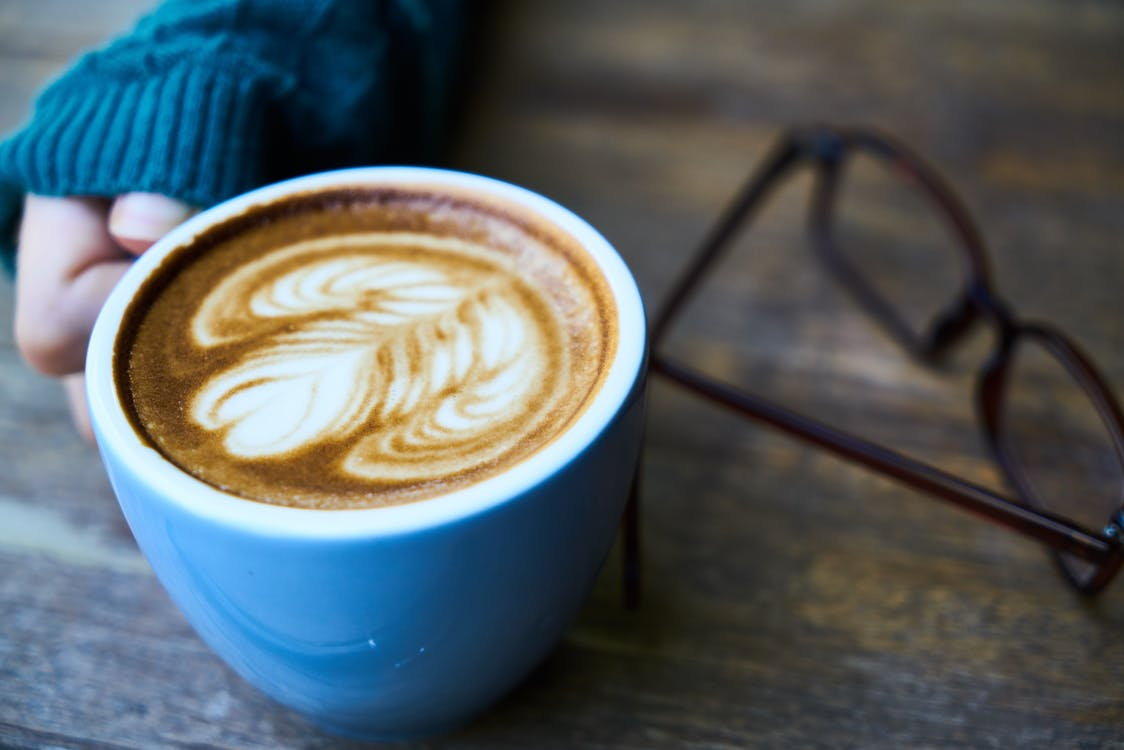 bề mặt gỗ, bọt, cà phê