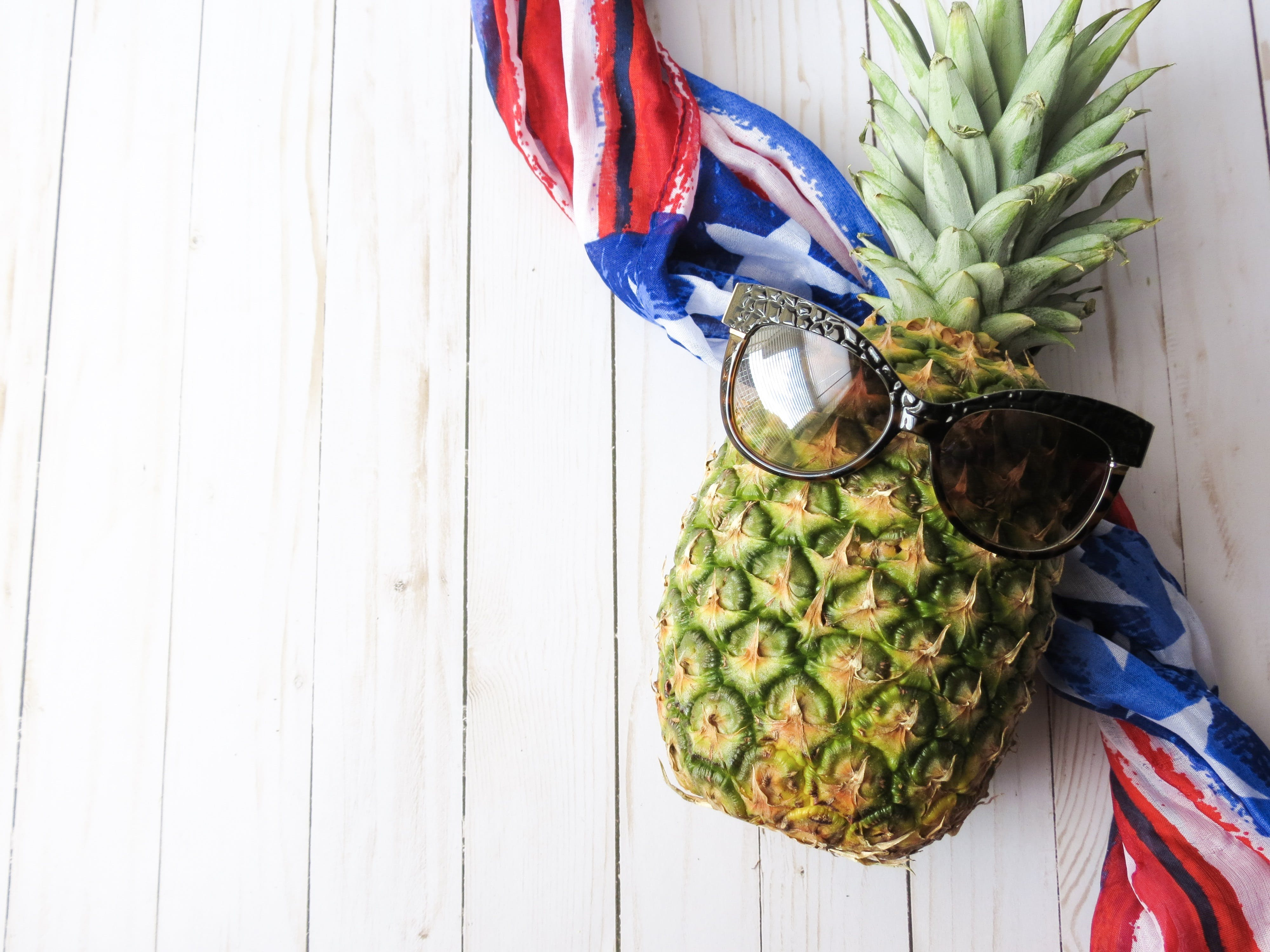 Pineapple With Brown Sunglasses