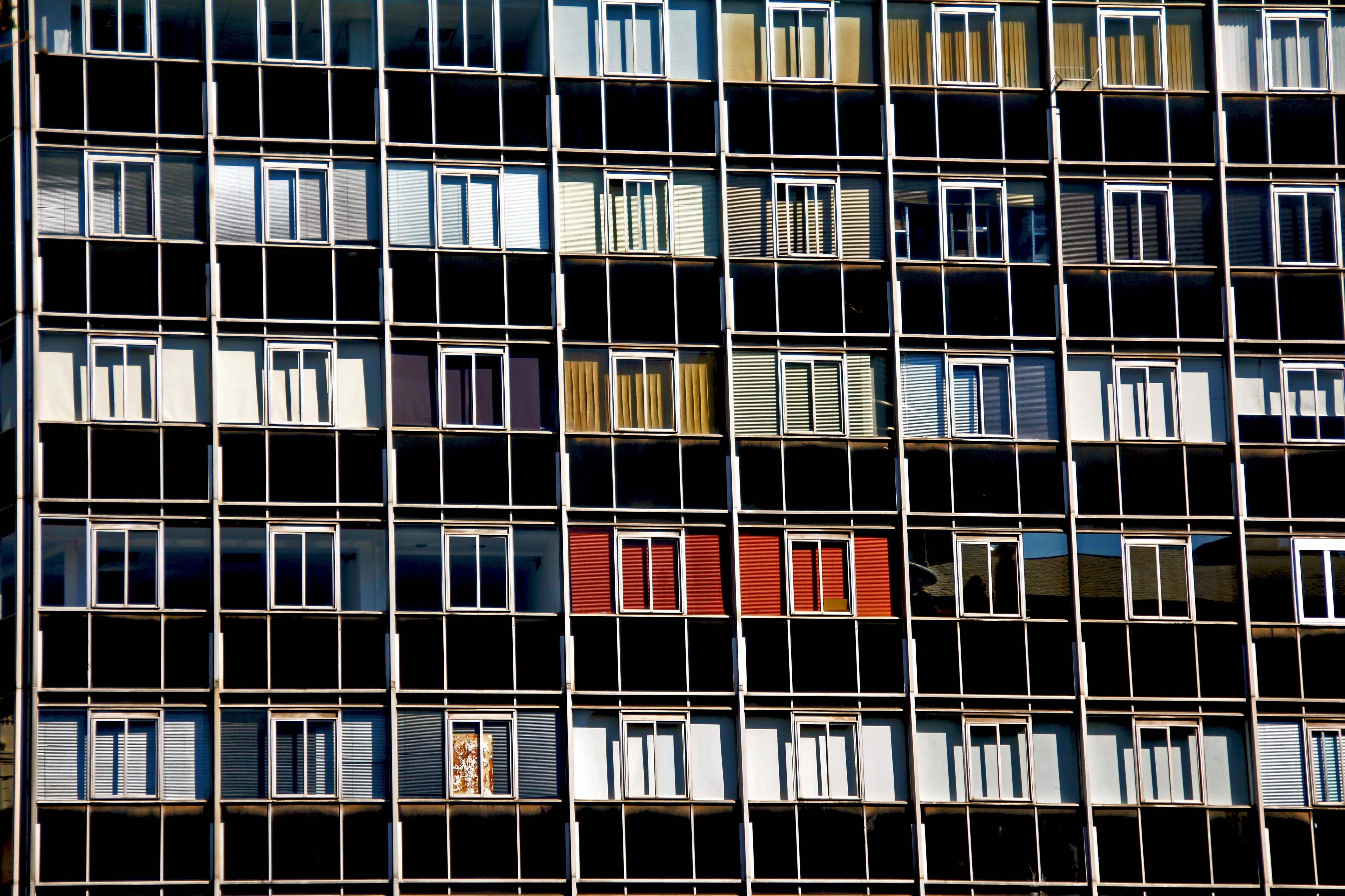 appartement, architectuur, bouw