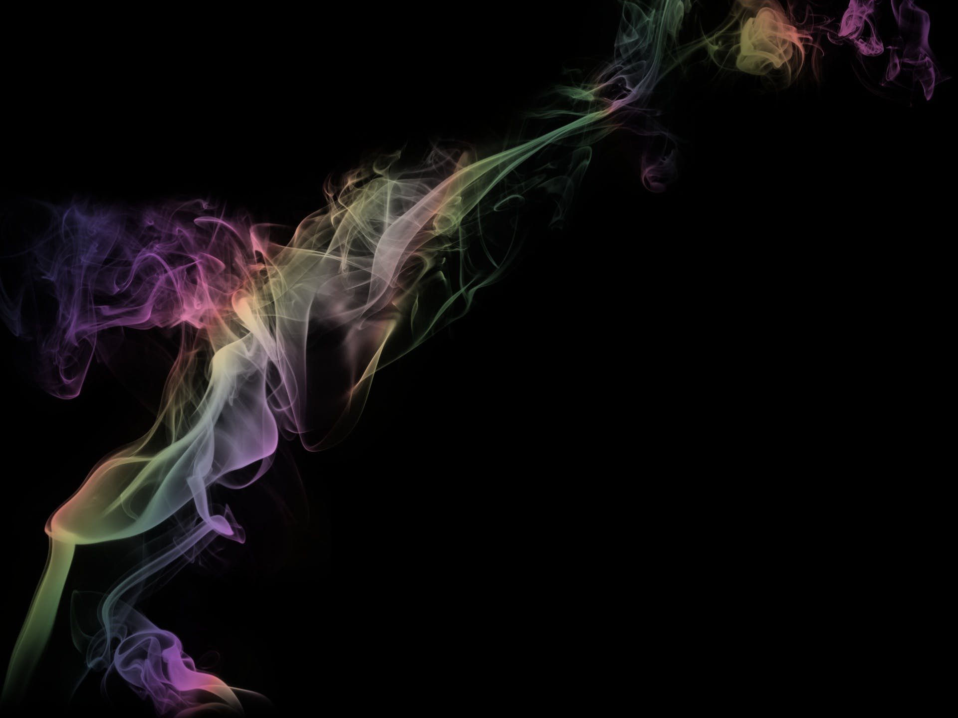 Green, Yellow, and Pink Smoke Wallpaper