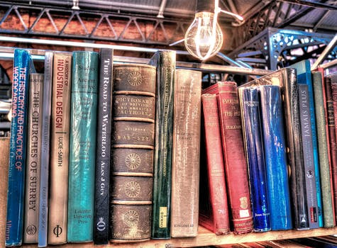 Free stock photo of books, vintage, light bulb, old