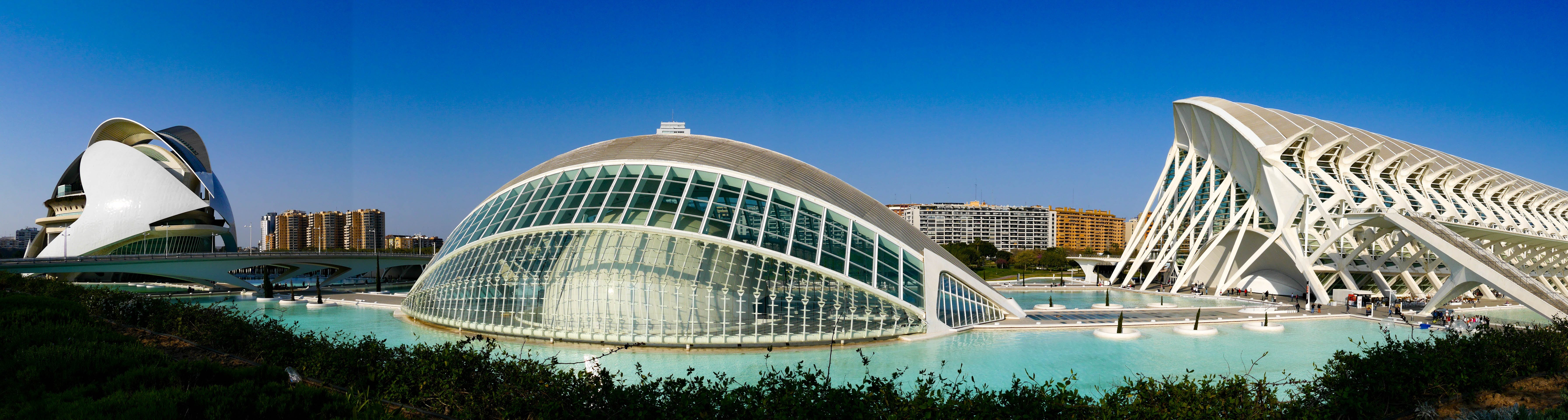 Panoramic View of Architectural Building With Man-made Pool
