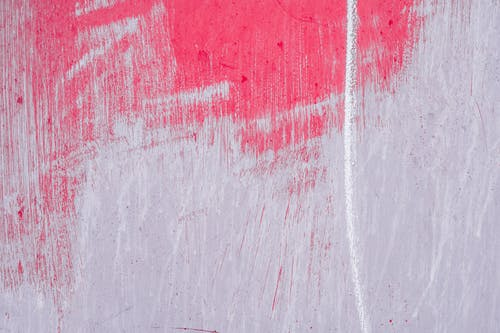 White line on pink violet wall