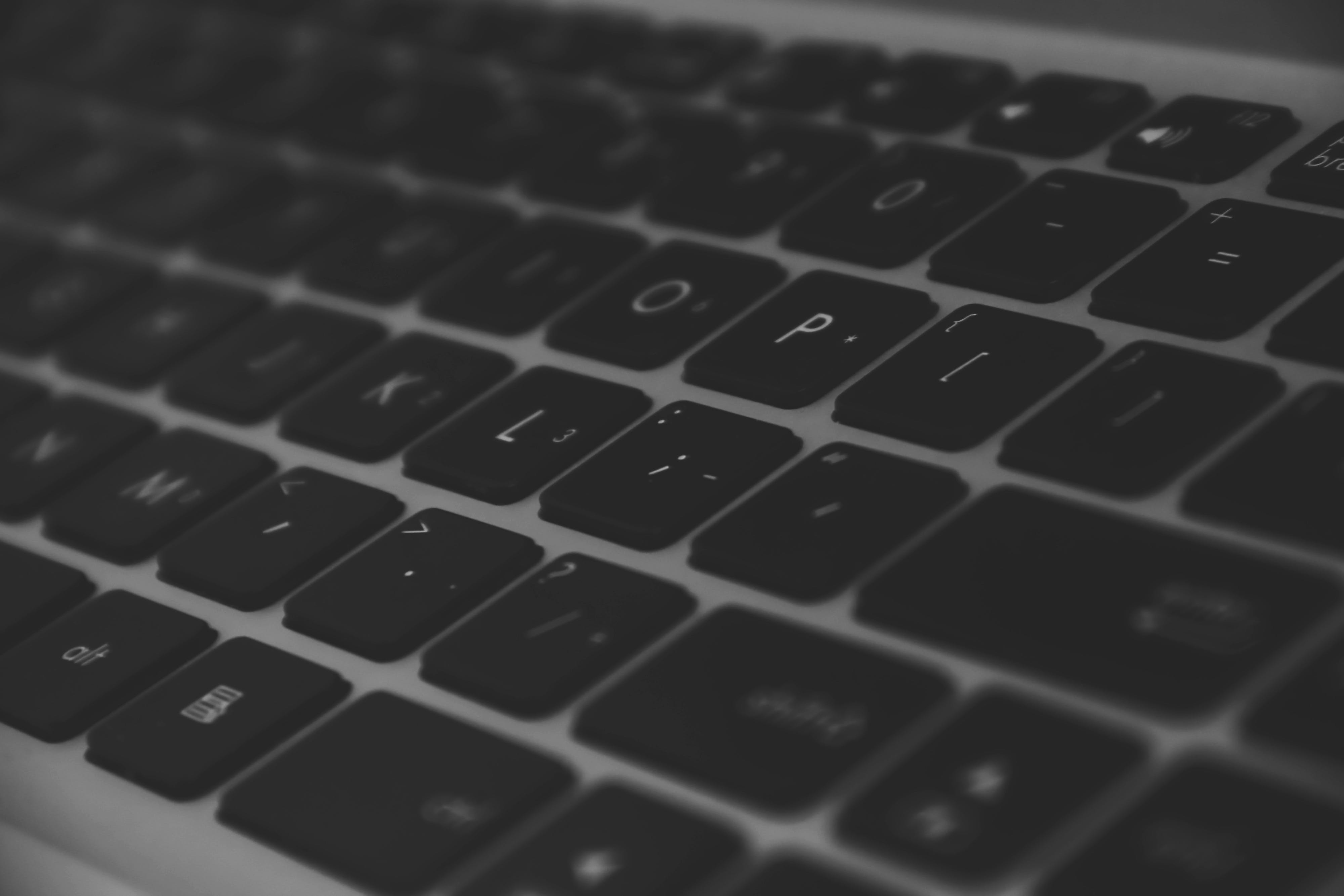 blur, close-up, computer keyboard