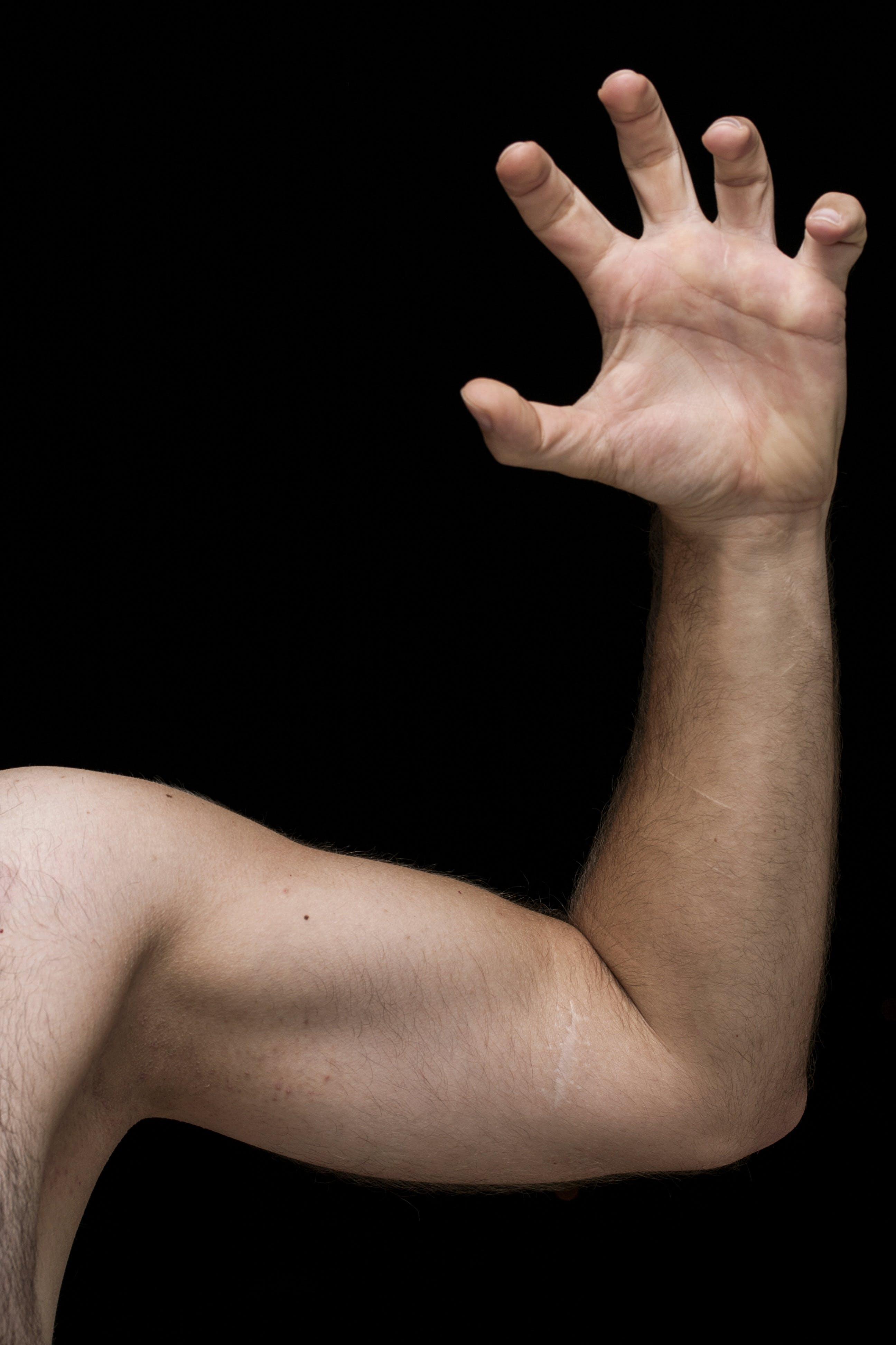 arm, biceps, fingers
