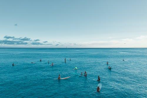 People Swimming on Sea