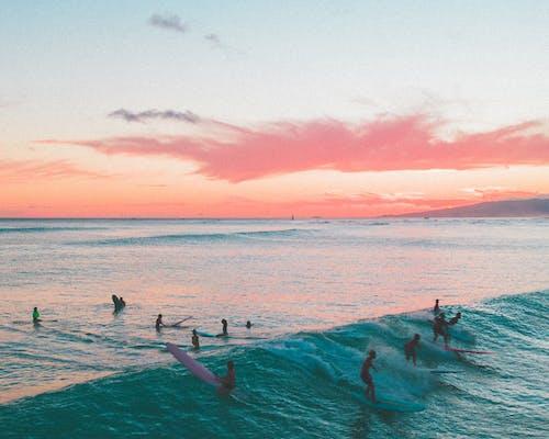 Immagine gratuita di drone, fare surf, fotografia da drone