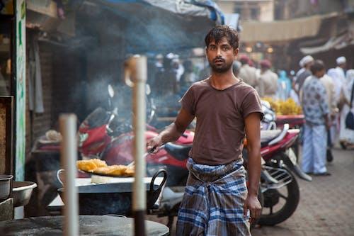 Kostnadsfri bild av gatumat, indien, man