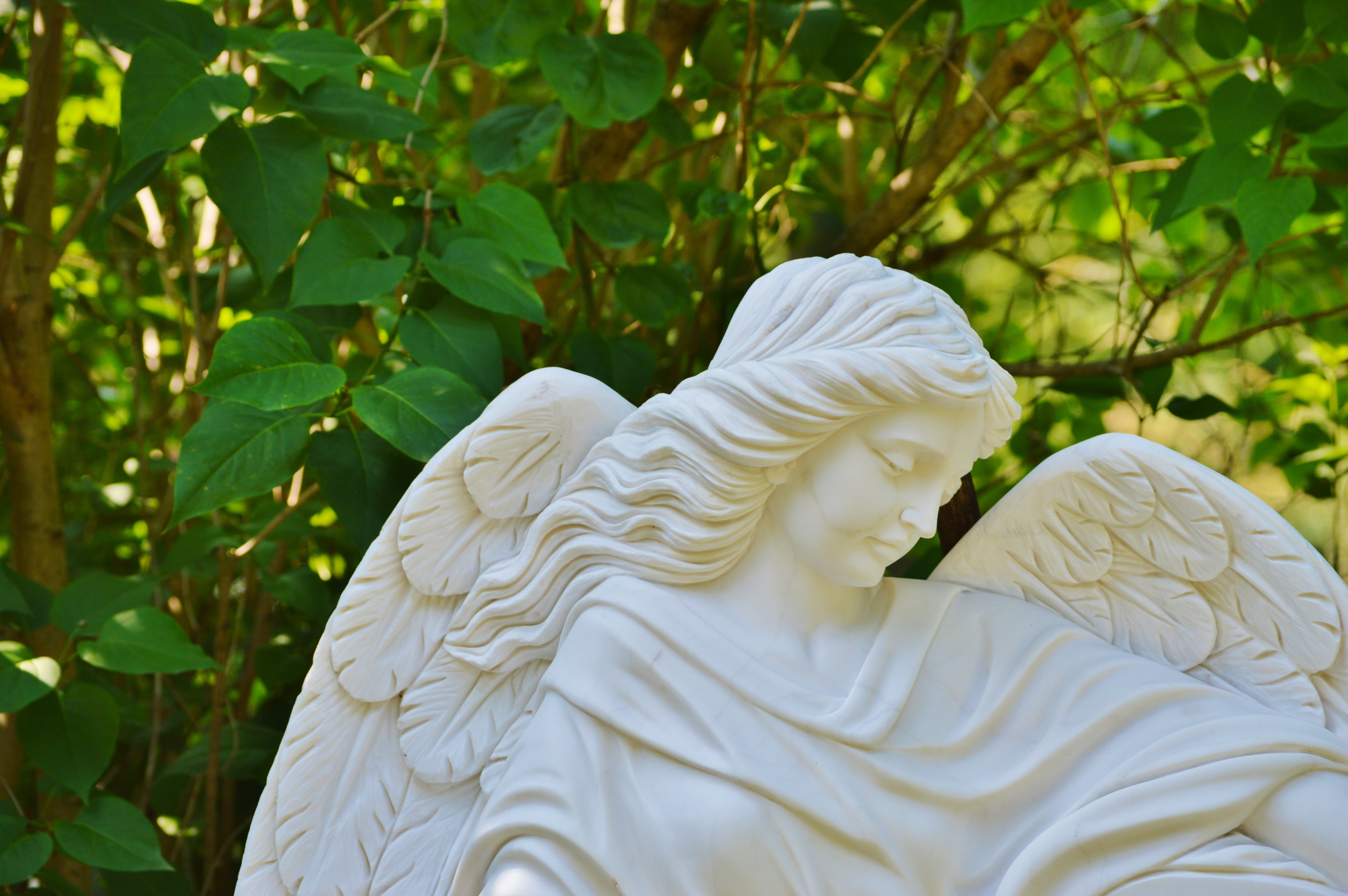 White Ceramic Angel Statue