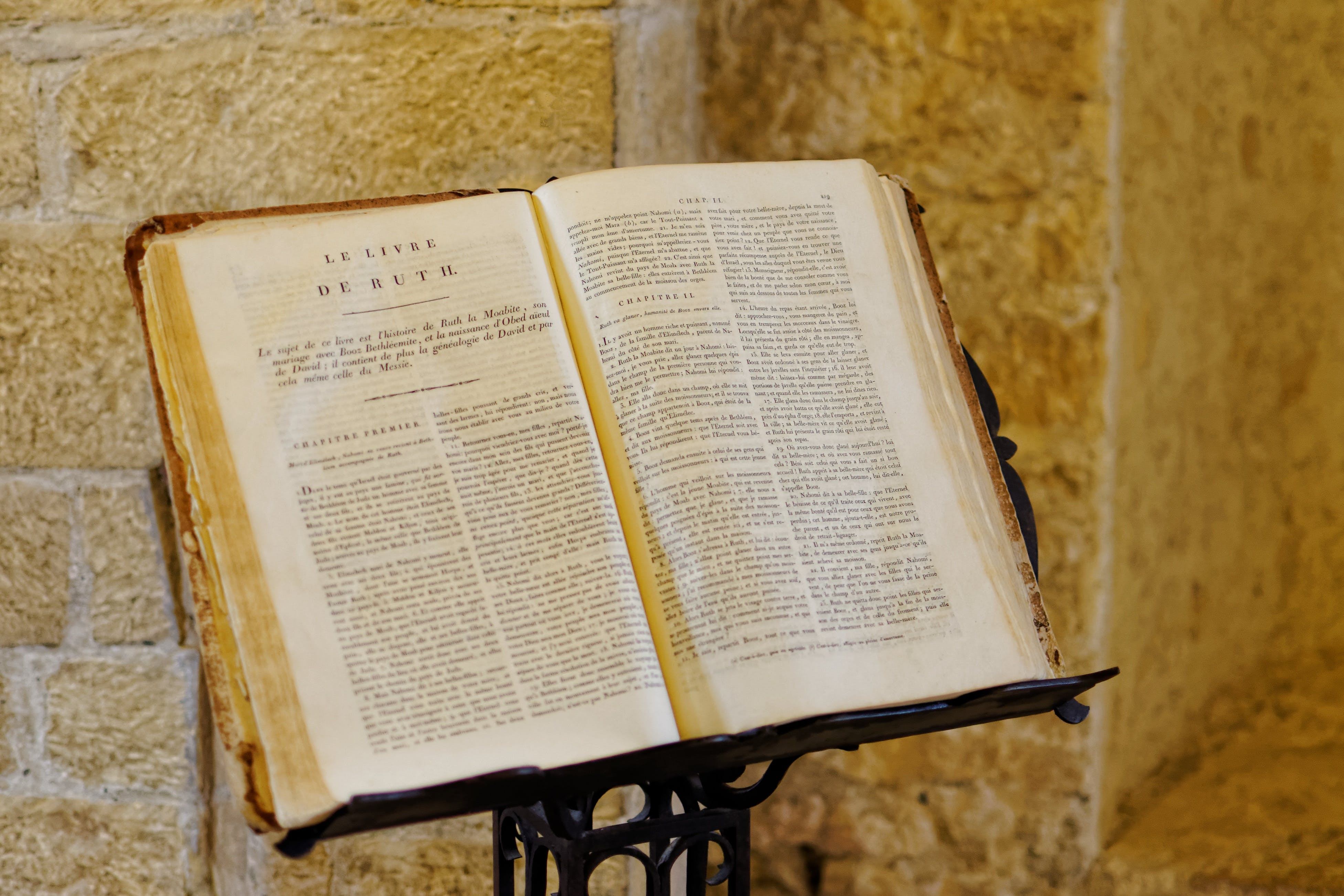Free stock photo of bible, chapel, church, font