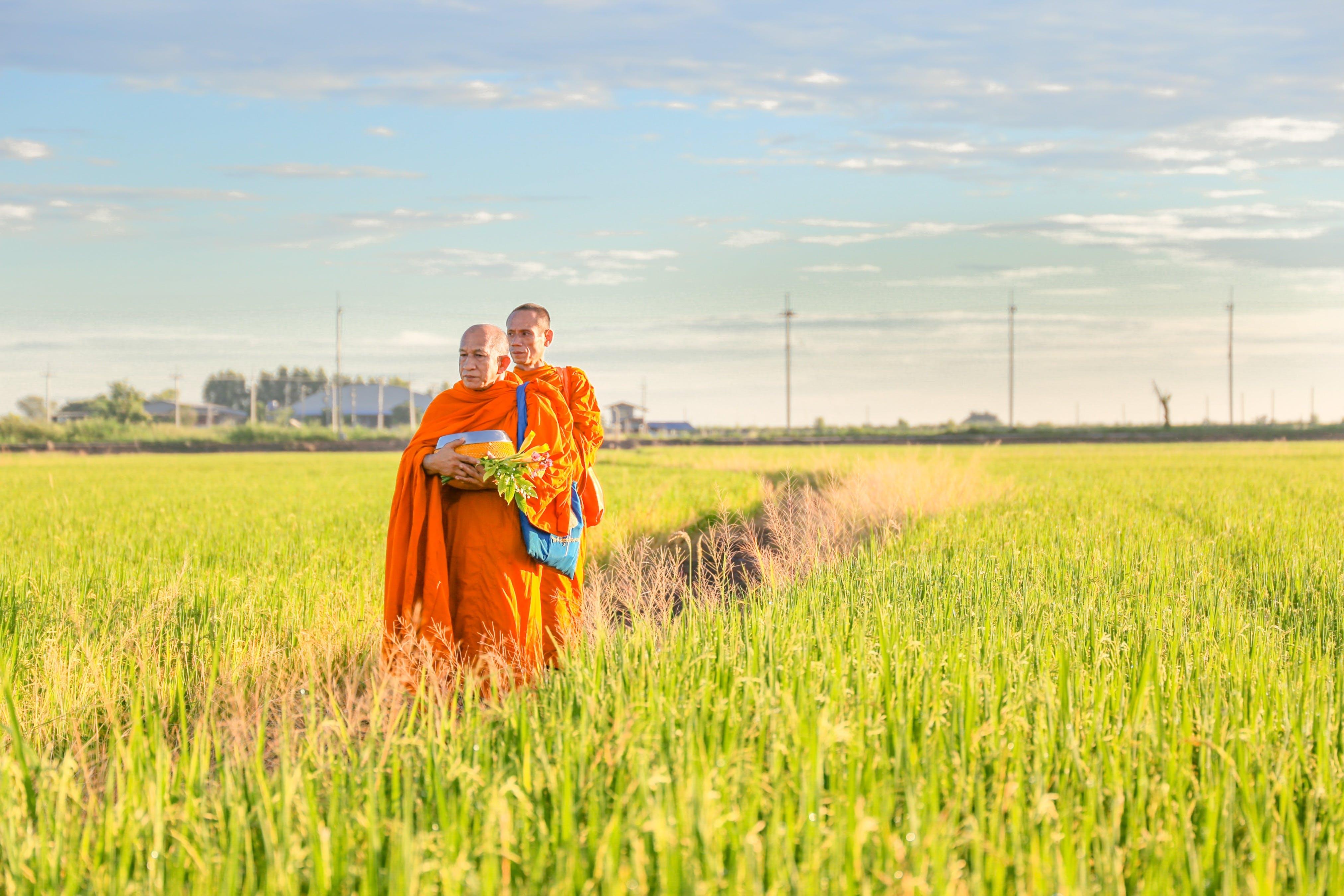 Men Standing on Grass Field
