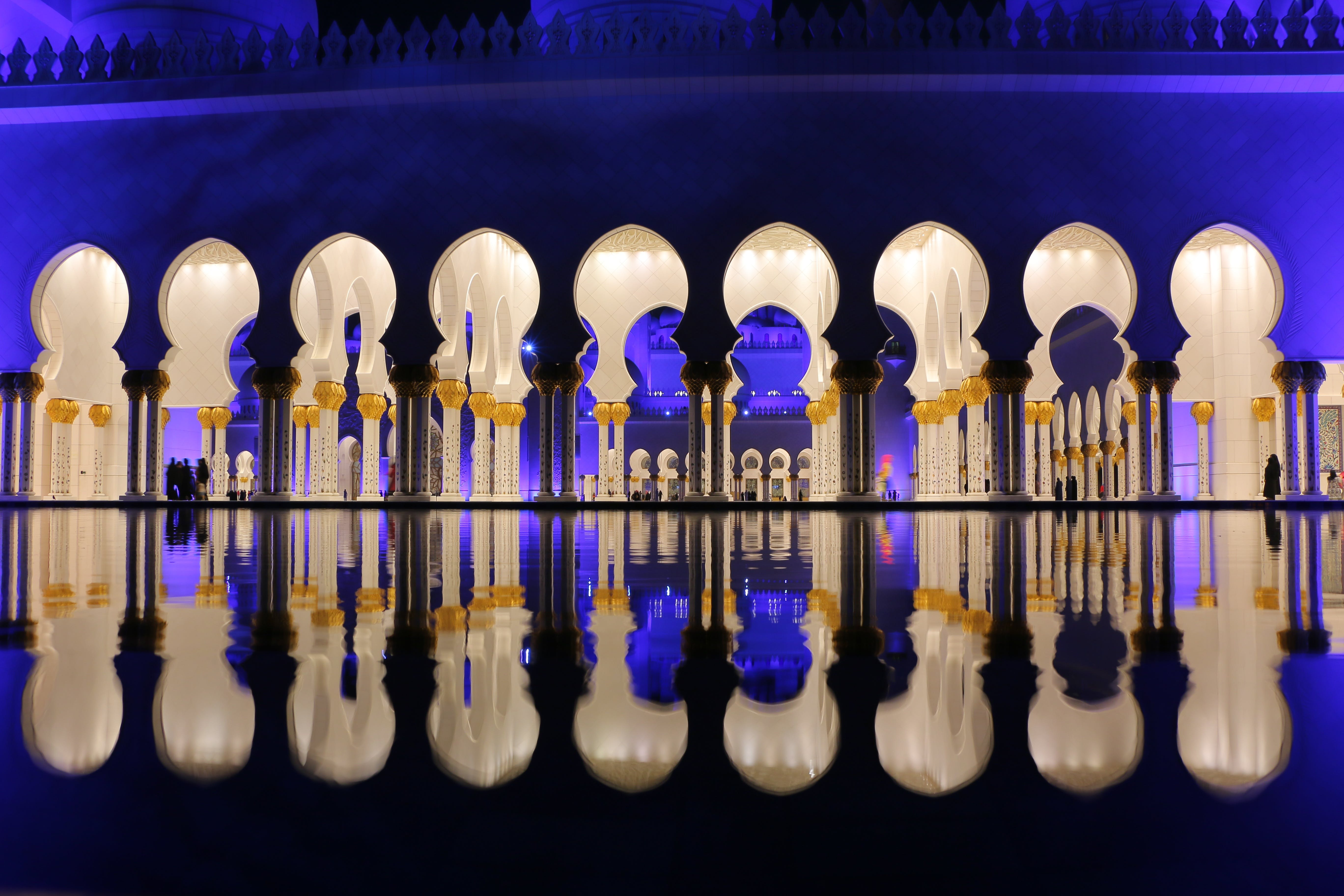 Free stock photo of lights, building, architecture, reflections